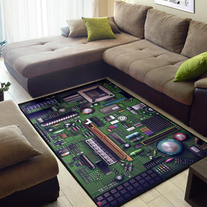 Circuit Board  Area  Rug