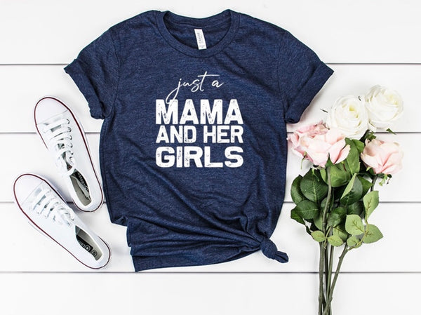 Mama and her girls shirt, Mom of girls shirt, girl mom shirt. Gift for mom