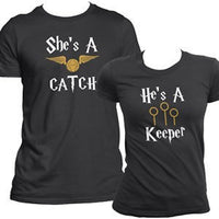 She's a catch, he's a keeper. Harry potter His and hers set.