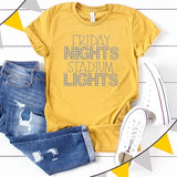 Friday nights and stadium lights shirt, Friday night lights shirt, football mom shirt, football tee, football mom gift, gift for football mo