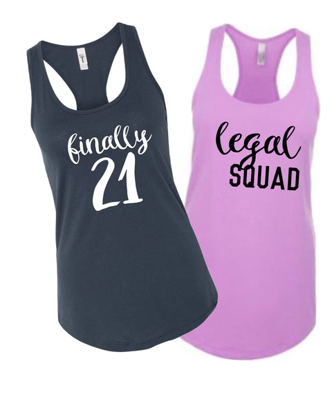 21 run shirt| Legal squad shirt| Girls weekend Shirts| Road trip Shirts| Birthday party shirts| pub crawl shirt| 21st Birthday Shirts