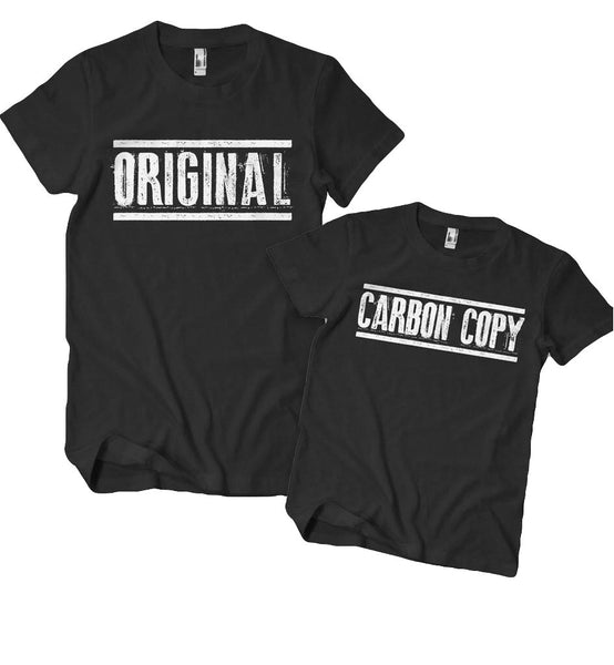 Original and Carbon Copy, Daddy and Me shirts, Just like daddy,  Dad and me matching shirts, matching family shirts, mom and dad matching