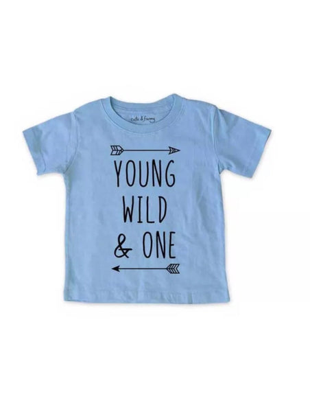 Young wild and one, 1st birthday shirt, birthday shirt| cute kids birthday shirt| first birthday shirt| cake smash shirt| birthday party