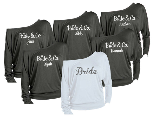 Bride and Bridesmaid shirts, Maid of honor shirt, bride shirt, bride and co shirts, bridesmaid shirts, bachelorette weekend, Nashville party