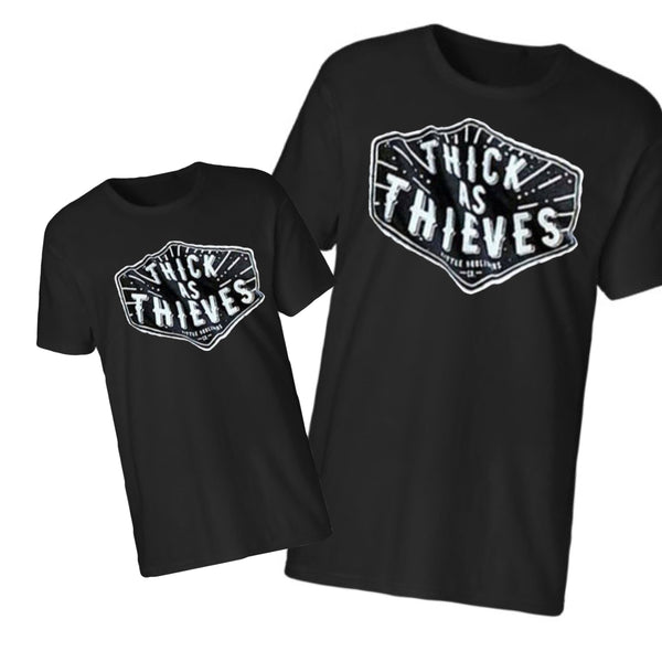 Thick as Thieves, Daddy and Me shirts, Just like daddy,  Dad and me matching shirts, matching family shirts, mom and dad matching