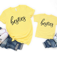 Mom and me besties shirt, Mom shirt, mommy & me shirt, matching mom shirt, gift for mom, matching set, mom shirt, Christmas gift, BFF shirt