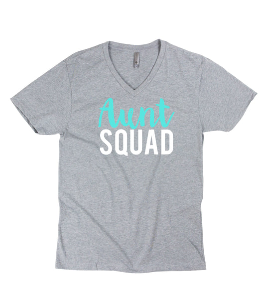 Aunt Squad tee, aunt shirt, gift for aunt to be, Christmas gift, aunt and me, aunt squad shirt, gender reveal shirt for aunt, team boy shirt
