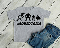 Squad goals, superhero shirt, superhero squad goals shirt, batman squad, Advenger squad goals, cute boys shirt, squad shirt, superhero squad
