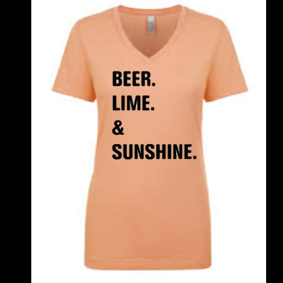 Beer Lime and Sunshine, vacation shirt, beach bound shirt, vacation gift,  gift, I need a vacation shirt, cruise shirt, fashion shirt