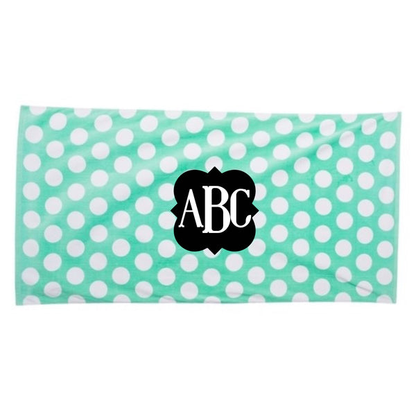 Monogram beach towel, monogram towel, Personalized beach towel, custom beach towel, beach vacation, pool party, party towel, monogram towel