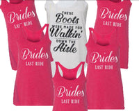 Walking down the aisle, bridesmaid shirts, bride shirt, bride and co shirts, bridesmaid shirts, bachelorette weekend, Nashville Bachelorette