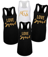 Bride squad shirts, Bride and Bridesmaid shirts| Bachelorette tanks| girls trip shirts| bachelorette shirts| Love Squad | bridesmaid shirt