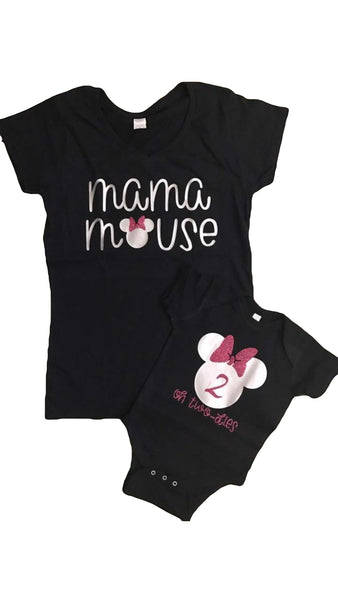 Mama mouse and baby mouse shirts, matching mommy and me shirts, mama bear shirt, mama and baby shirts, matching family shirts, mom  matching