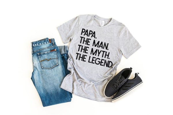 Papa the man the myth the legend shirt, grandpa shirt, birth announcement, gift for pap
