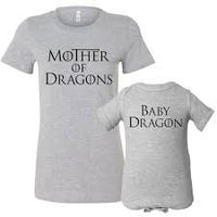 Mother of Dragons shirt, Game of thrones mom and baby shirt, mom and baby dragon, GOT fan shirts, matching mom shirt, mommy and me shirts