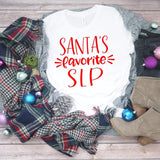 Santas favorite Secretary shirt, Secretary shirt, gift for secretary, secretary gift, gift for her, school office shirt, school secretary
