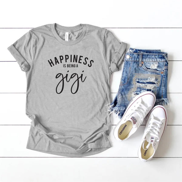 Happiness is being a gigi, gift for gigi, gigi shirt, grandma, gift for grandma, grandma gift, gift for grandma, grandma shirt, nana shirt,