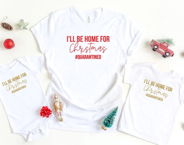I'll be home for Christmas Quarantine Christmas shirt, christmas lover shirt, christmas shirt, funny christmas shirt, christmas music, funny graphic tee