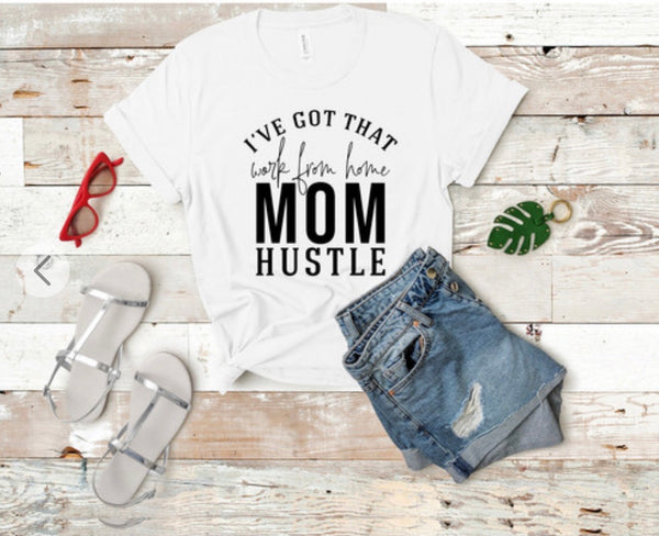 Work from home mom shirt