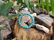 Load image into Gallery viewer, Turquoise Howlite 8mm Natural Gemstone Bracelet