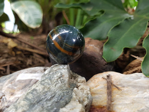 Tiger Eye Blue 30 mm Sphere (with natural Flaw)