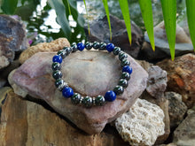 Load image into Gallery viewer, Hematite and Mountain Jade 8mm Gemstone Bracelet