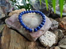 Load image into Gallery viewer, Mountain Jade 8mm Dyed Gemstone Bracelet