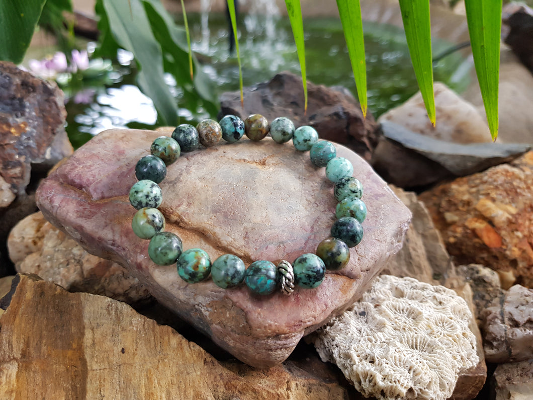 African Turquoise 8mm Natural Gemstone Bracelet