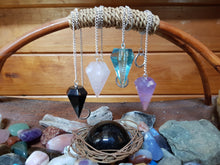 Load image into Gallery viewer, Rose Quartz Crystal Pendulum