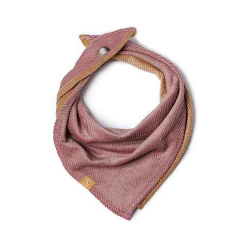 Corduroy Dog Bandana - Dusty Pink/Biscuit