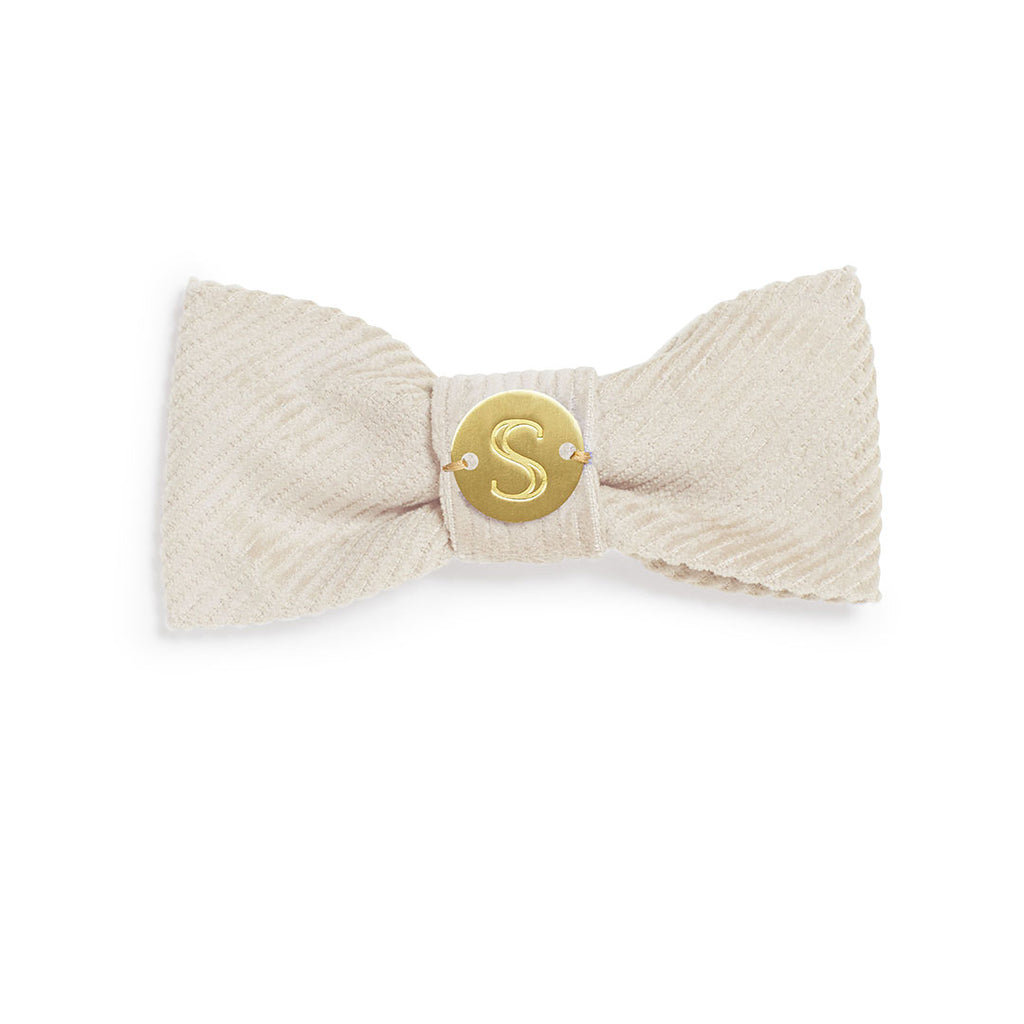 Corduroy Bow Tie - Natural