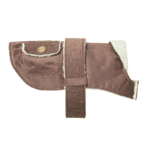Corduroy Dog Coat - Biscuit