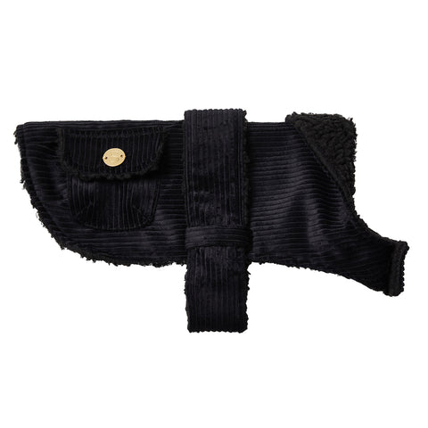 Corduroy Dog Coat - Black