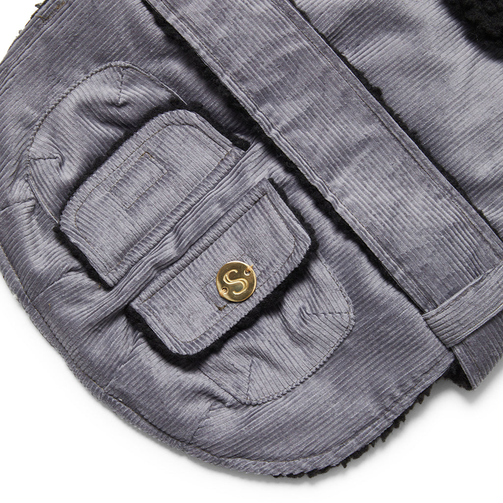 Corduroy Dog Coat - Blue/Grey