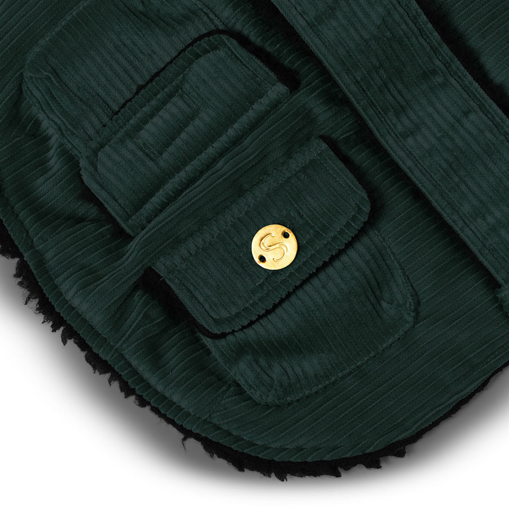 Corduroy Dog Coat - Teal