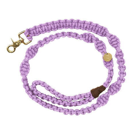 Macramé Originals Dog Lead - Violet