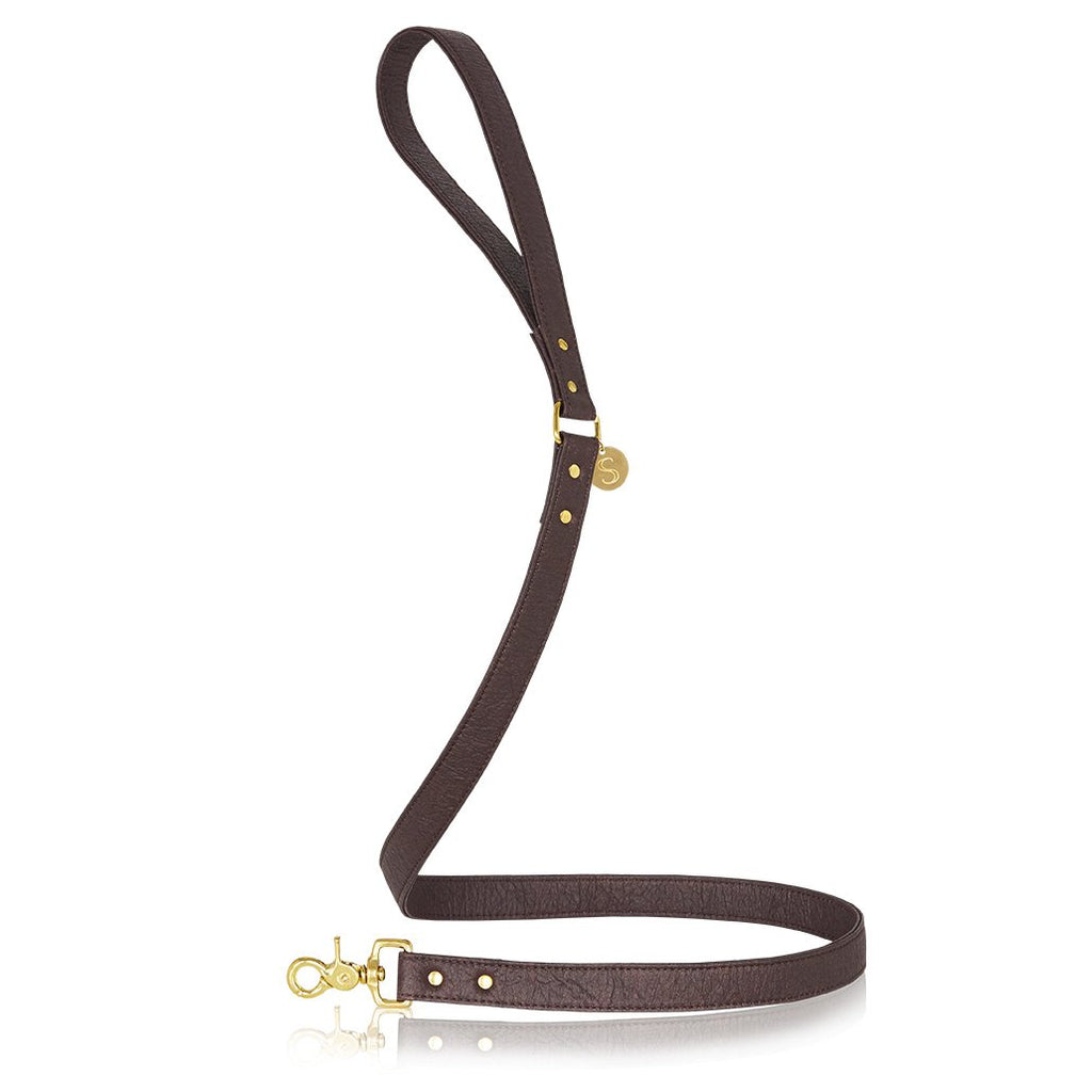sebastian says dog lead pinatex brown