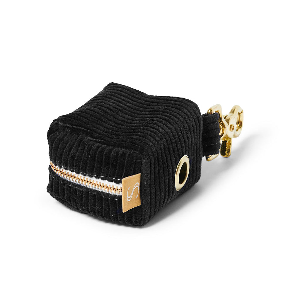 Corduroy Poop Bag Holder - Black