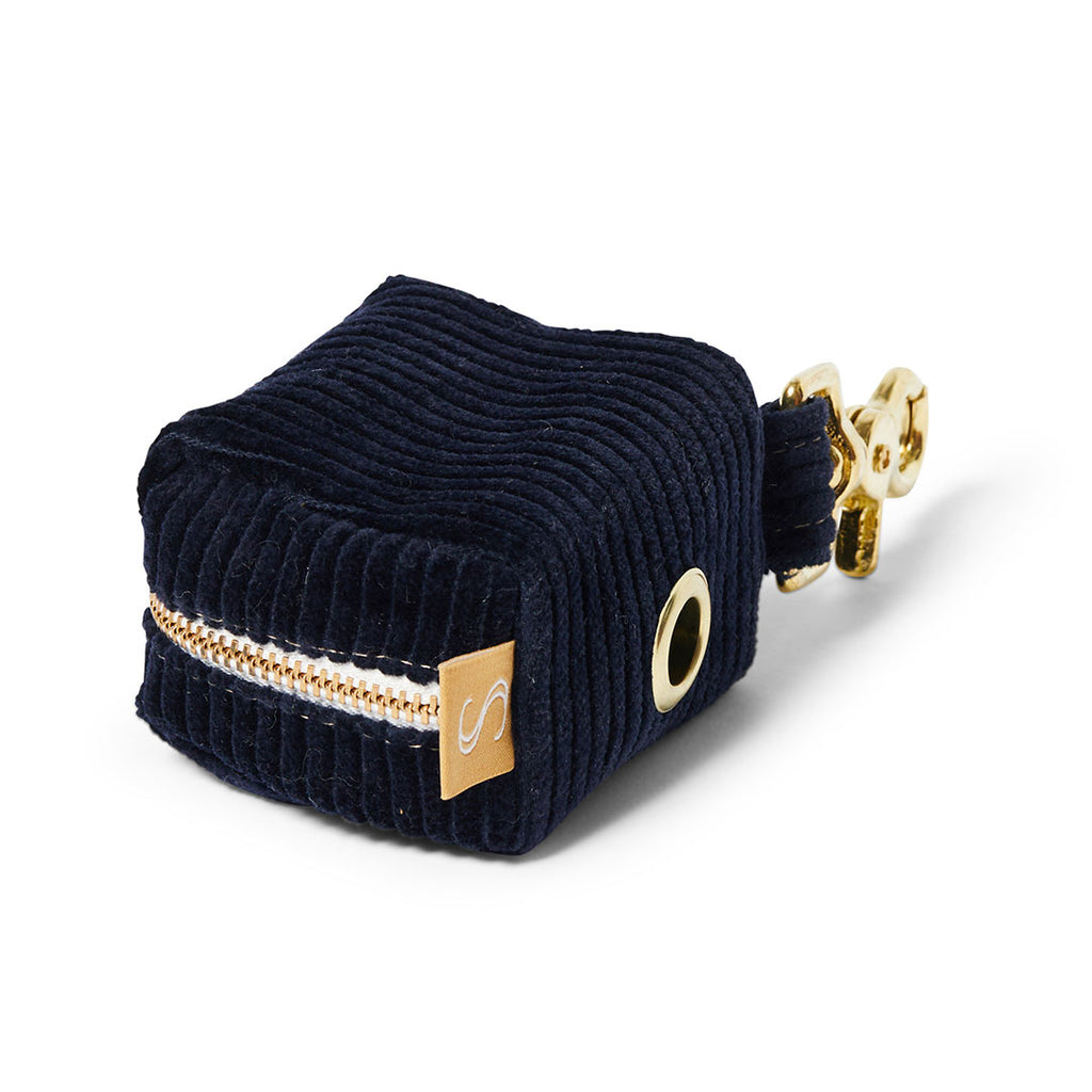 Corduroy Poop Bag Holder - Indigo