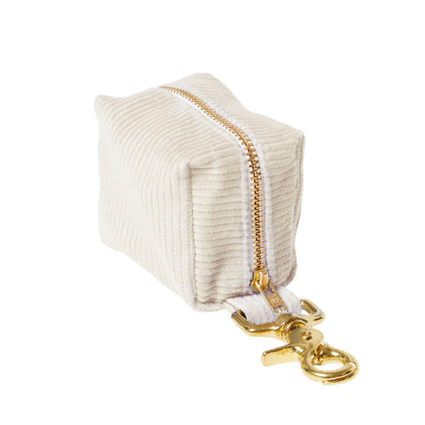 Corduroy Poop Bag Holder - Natural