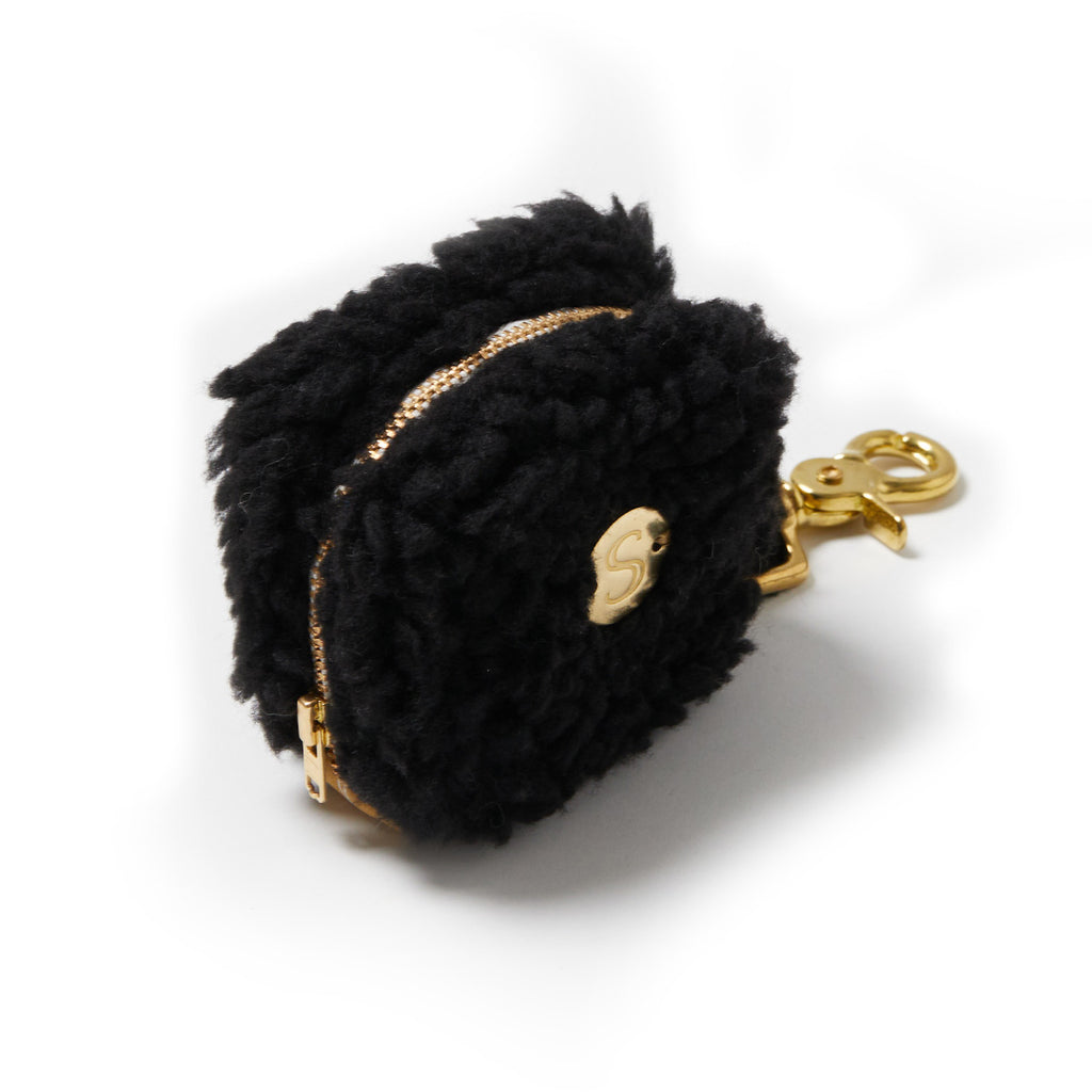 Teddy Poop Bag - Black