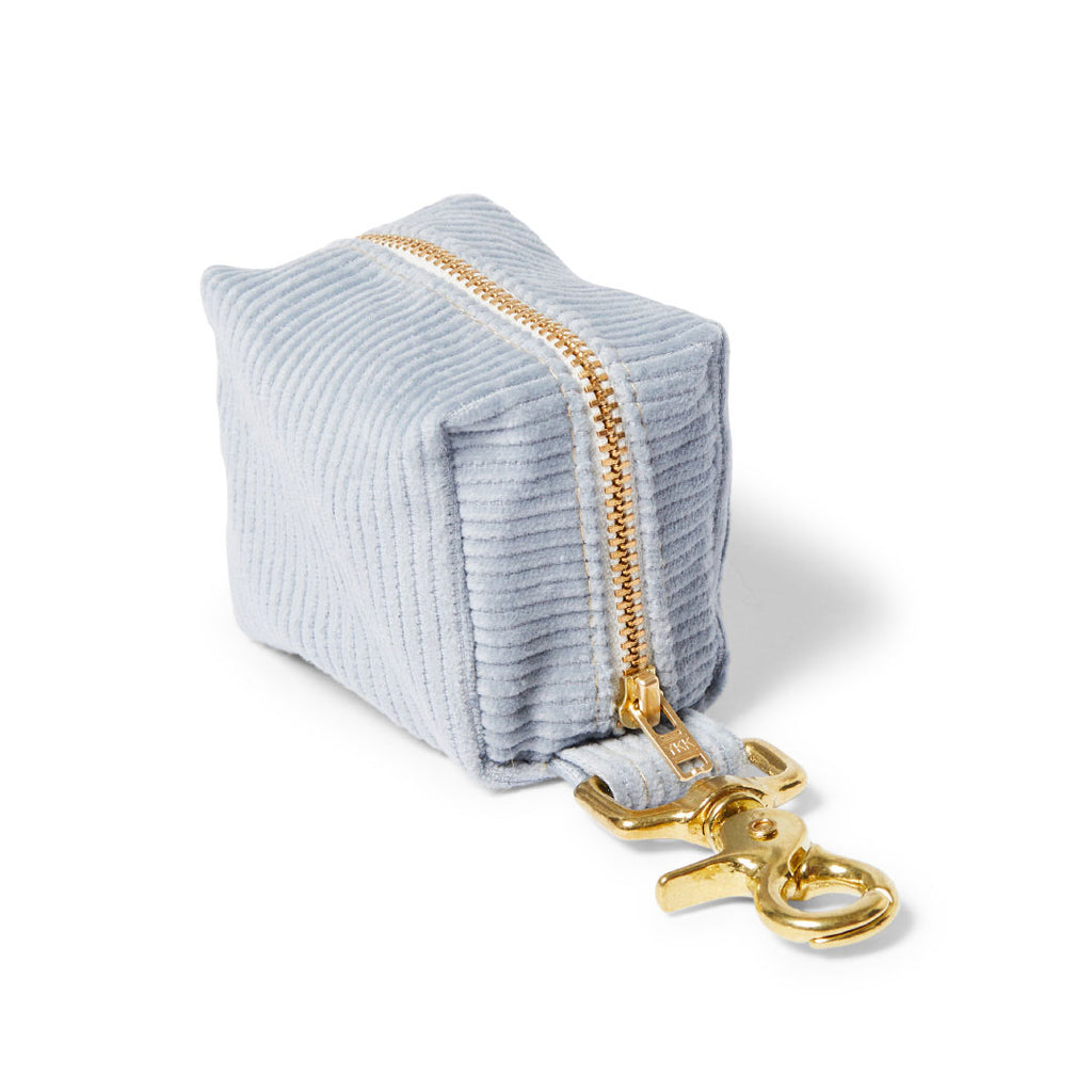 Corduroy Poop Bag Holder - Sky Blue