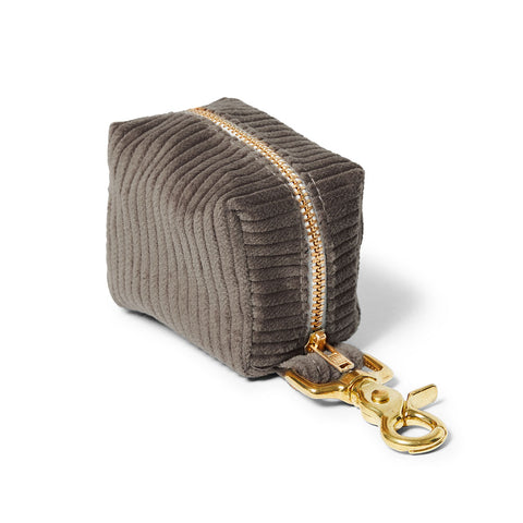 Corduroy Poop Bag Holder - Taupe