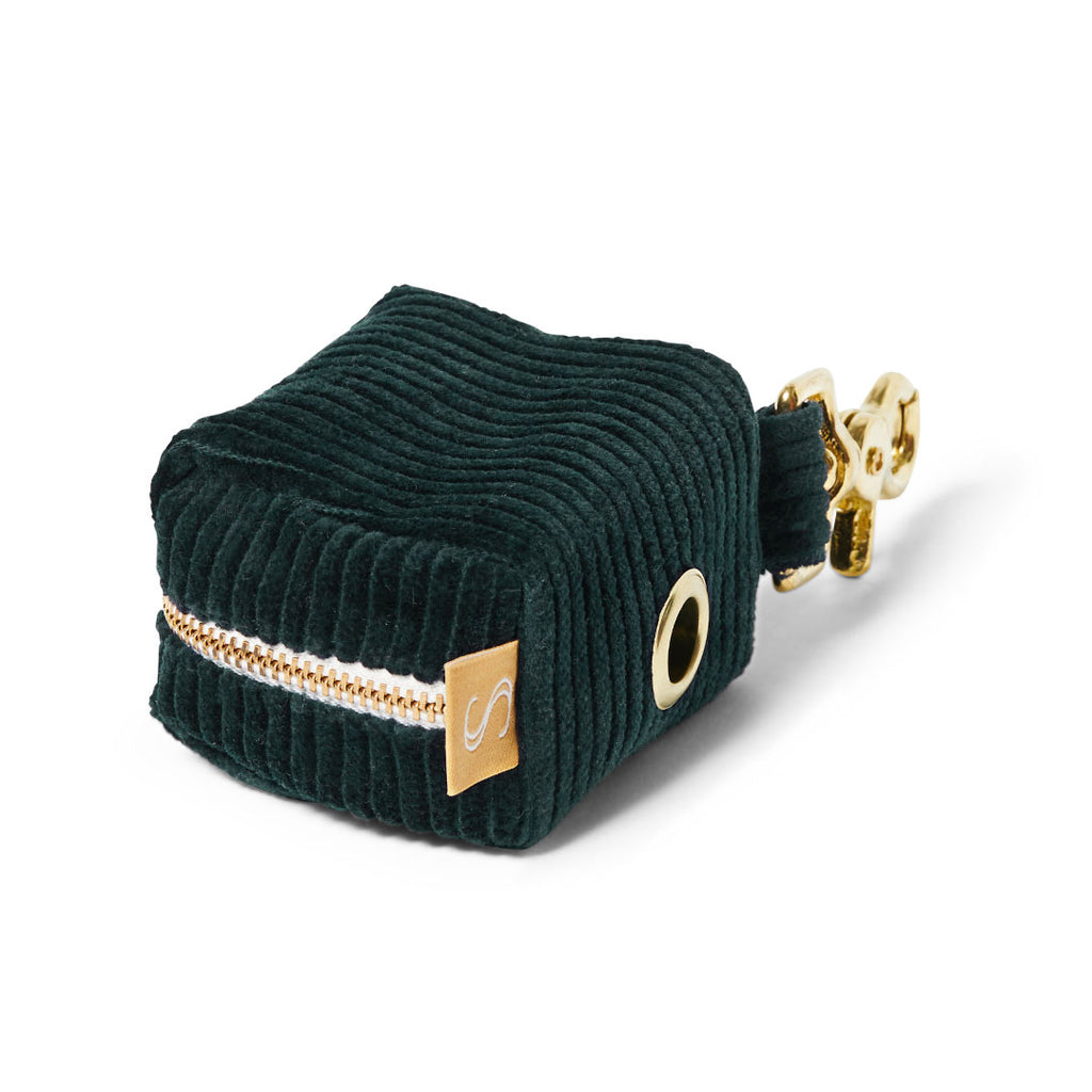 Corduroy Poop Bag Holder - Teal