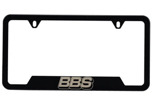 BBS License Frame - Stainless Steel - Black