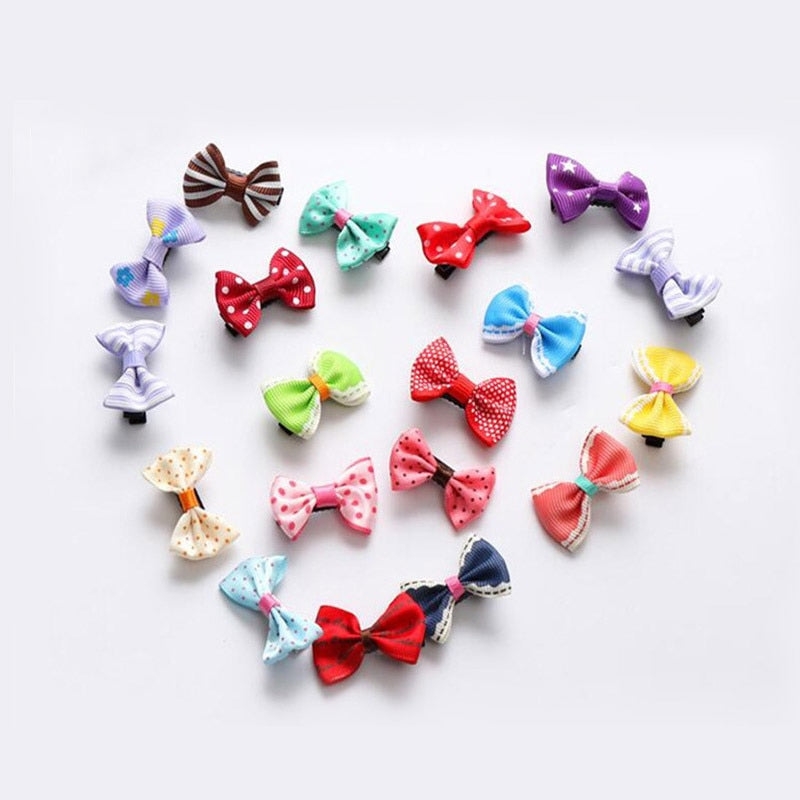 10PC Small Dogs Bow Hair Grooming