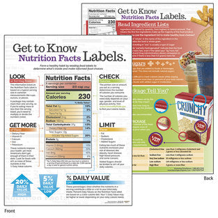 TABLET NUTRITION FACTS