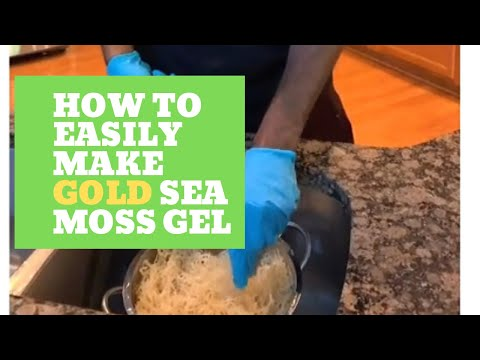 Load and play video in Gallery viewer, 1 Month Supply Premium Gold Sea Moss Gel w/ Bladderwrack (ONLY 25)**