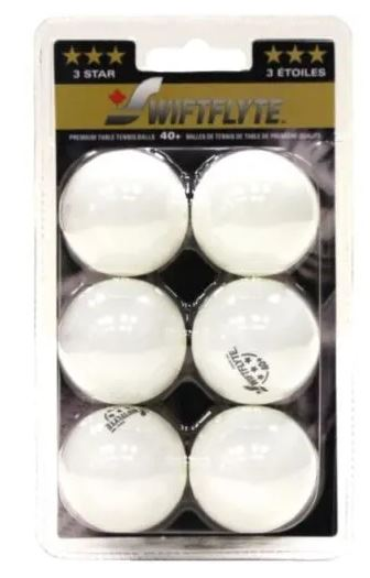 6 Pack 3 Star Table Tennis Balls