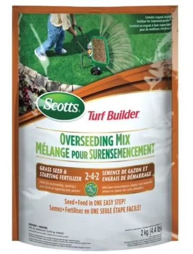 2kg Turf Builder Overseed With Fertilizer Grass Seed